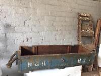vintage H&K haulage trunk / wooden chest shabby chic project £20