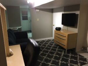 Furnished bachelor apartment close to law school