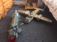 Helicopter & Aeroplane