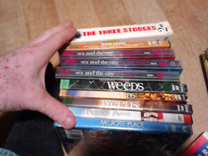 assorted dvds and bluerays