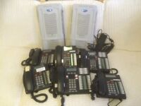NORTEL BCM50 Telephone System, 6 Handsets & 2 Headsets
