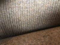 2m wide Cotract Ribbed Carpet