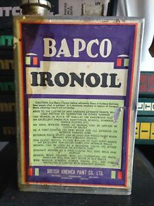 Bapco oil can for sale