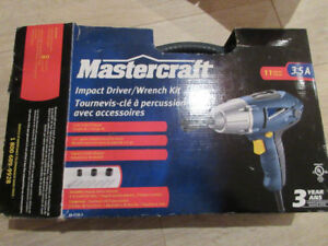 Impact wrench kit électrique 1/4 Mastercraft
