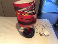 Disney cars lightening McQueen bedside tyre lamp