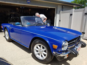 1975 Triumph TR6 Convertible mint condition with Records