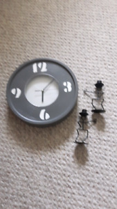 Clock/ candle sticks