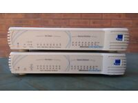 TWO 3Com 8 Port | Network / Business / Home Switch