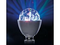 Light Bulb Disco Ball From JML Great For Parties and Kids Rooms (Bayonet Fitting) NEW
