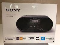 New Sony Portable Boombox CD Player DAB RADIO USB MP3