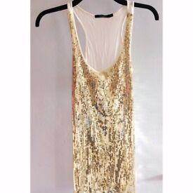 Gold sequin vest size 8