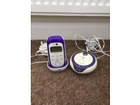 BT 350 digital baby monitor with lightshow