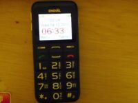 MOBILE PHONE WITH CHARGER IDEAL FOR PARTIALLY SIGHTED