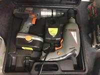 Electric drill and 18v battery drill set