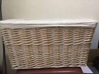Wicker laundry basket in very good condition only £8