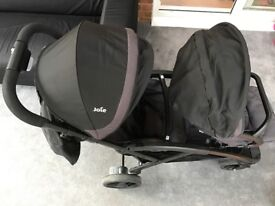 Double pushchair - Joie Evalite Duo Two Tone Tandem Stroller