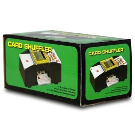 AUTOMATIC BATTERY OPERATED POKER CASINO 1-2 DECK PLAYING CARD SHUFFLER SORTER - NEW