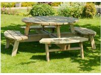 CHEAP -Round Picnic Garden Bench