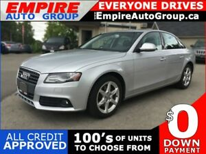 2009 AUDI A4 2.0T QUATTRO * AWD * LEATHER * SUNROOF * BLUETOOTH