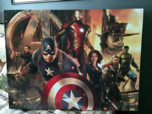 Great shape 2ft x 3ft super hero print on canvas