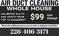 Unlimited Vents Cleaning $99 (226-406-3171)
