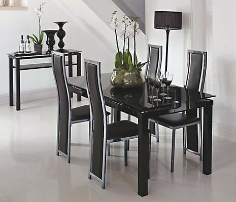 Dining Room Set Harveys New HALF RETAIL Black
