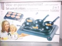 electric wok and pancake, crepe machine / maker -brand new in box