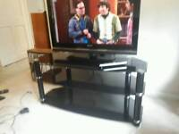 "36"" Sony Bravia LCD TV and Glass/Chrome Media Stand"