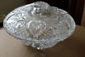 Covered Dish for Candy / Peanuts / Jewellery  / Cotton Swabs ETC
