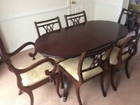 Mahogany Dining Table And Chairs By Strongbow William Bartlett