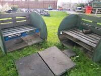 2 Custom benches
