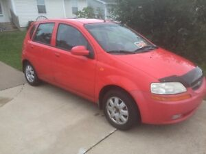 2004 Chevy Aveo 5spd