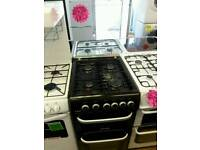 CANNON 50CM GAS DOUBLE OVEN COOKER IN BLACK