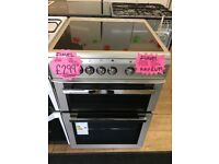 FLAVEL BRAND NEW 60CM CEROMIC TOP ELECTRIC COOKER IN SILIVER