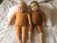 Baby massage demo doll