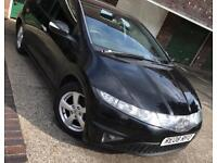 Honda Civic SE I-VTec Petrol 1.8 Black Manual Long MOT Good Car Low Mileage