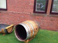 Oak Whisky Barrel Dog Kennel