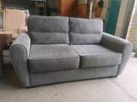 Modern grey 2 seater sofa with pull out sofa bed