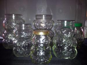 KRAFT bear peanut butter jars