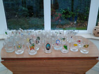 Various year's collection of Farham Beerex Souvenir Beer Mugs