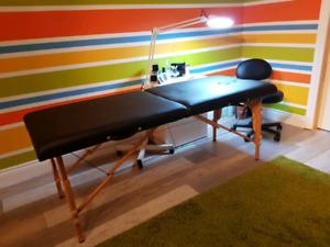 Table à massage portative
