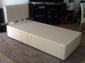 Single bed with matching headboard. Storage but no mattress. ****SOLD****