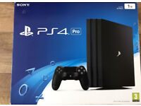 PS4 Pro 1TB Console with Controller Boxed in mint condition like new