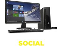 "HP Slimline 411-a005na Desktop PC & 24"" Monitor Bundle"