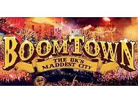 2 x boomtown tickets with camping + car parking