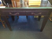 dressing table with glass top