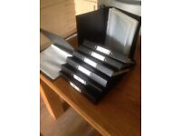 8 A4 Black File Folders