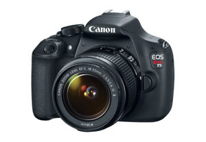 CANON EOS REBEL T5 WITH EFS 18-55 IS+ef 75-300 LENS