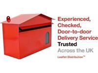 Leaflet Distributor Job IMMEDIATE start - Fareham & Portchester areas . Door to door flyer delivery