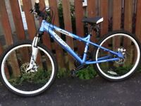 Light blue 24 inch Carrera Luna Mountain Bike